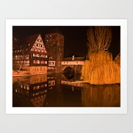 Romantic Nuremberg Bavaria Art Print