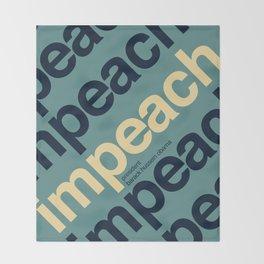 Impeach President Barack Obama Throw Blanket