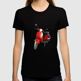 Vespa in Red T-shirt