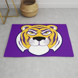 Louisiana State Tiger Purple Print Rug
