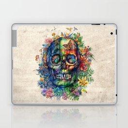 floral tropical skull Laptop & iPad Skin