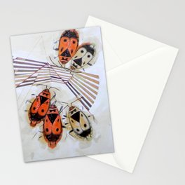 The measurement of space. Bedbugs Stationery Cards