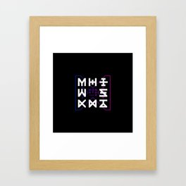 Monsta X -The Code Framed Art Print