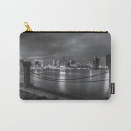 Norfolk Skyline II in Black and White Carry-All Pouch