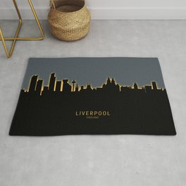 Liverpool England Skyline Rug