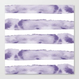 Watercolour Stripes in Violet Canvas Print
