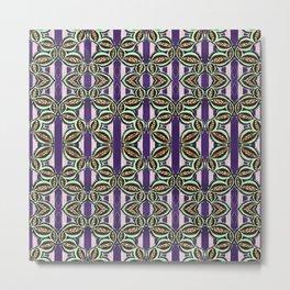 Purple Bliss Pattern Metal Print
