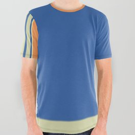 Bold blue Abstract Line All Over Graphic Tee