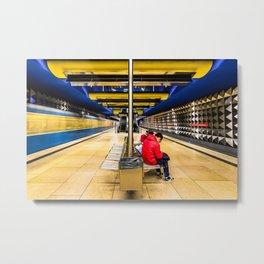 A U-Bahn (metro) station in Munich, Germany Metal Print