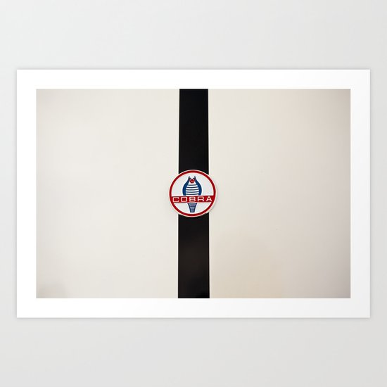 Shelby Cobra Logo Art Print