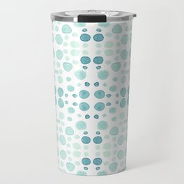 Dots, dots and more dots - blue, green & turquoise Travel Mug
