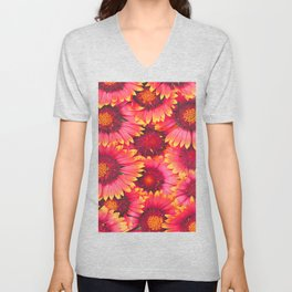 flowers Bright chamomile #society6 Unisex V-Neck