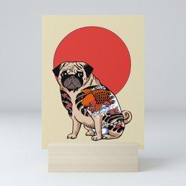 Yakuza Pug Mini Art Print