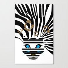 Leopard Zebra crossover Canvas Print