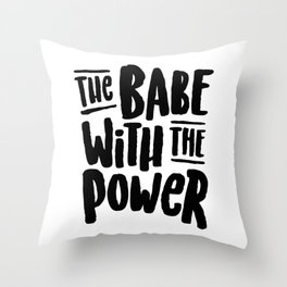 Labyrinth // The babe with the power Throw Pillow