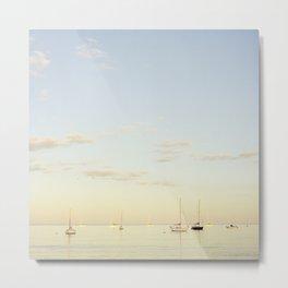 Crescent Beach Boats Metal Print