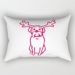 Scamp The Reindeer Dog Rectangular Pillow