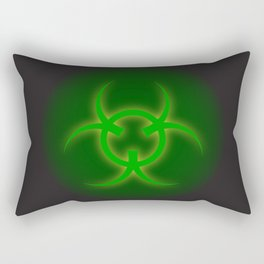 Bio Hazard Sign Rectangular Pillow