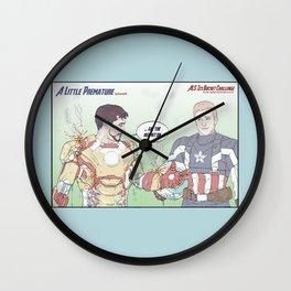 A Little Premature Wall Clock