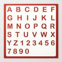 alphabet Canvas Prints featuring Alphabet by Sébastien BOUVIER