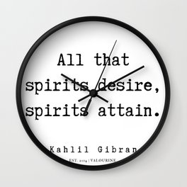 6    | Kahlil Gibran Quotes | 190701 Wall Clock