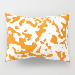 Spots - White and Orange Pillow Sham