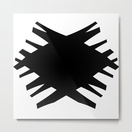 Accordian X | black Metal Print