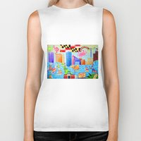 maryland Biker Tanks featuring Baltimore, Maryland by Karen Riddle