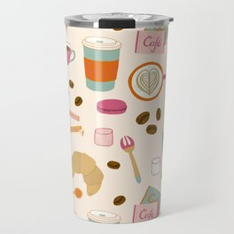 Drawing Coffee in a Café Travel Mug