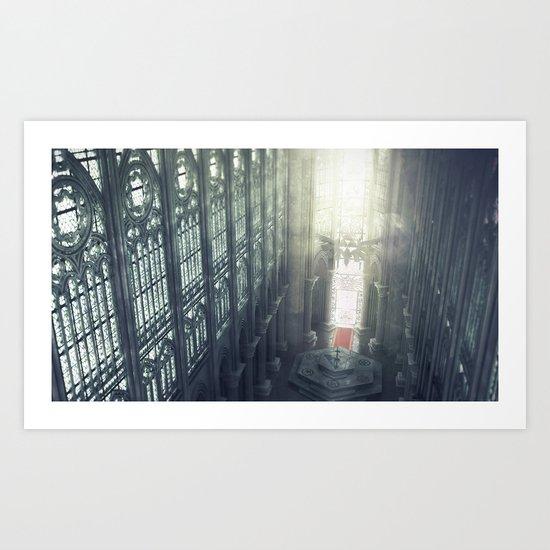 Zelda Cathedral Art Print