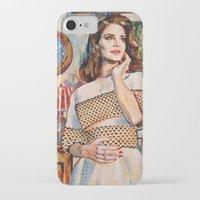lana del rey iPhone & iPod Cases featuring Lana Rey by Iván Gabela