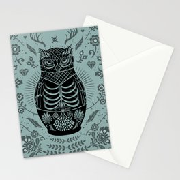 Owl Nesting Doll (Matryoshka) Stationery Cards