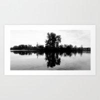 Island Reflection Art Print