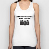 photographer Tank Tops featuring Photographer Tourist Funny by bitobots