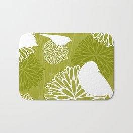 Pom Poms & Birds in Green by Friztin Bath Mat