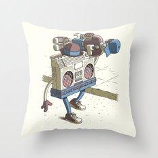 Human Boombox Throw Pillow