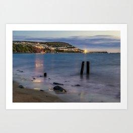 New Quay, Cardigan bay, Wales. Art Print