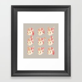Pinky Cheeks Framed Art Print