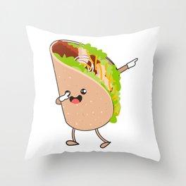 Dabbing Taco Cinco de Mayo Mexican Throw Pillow