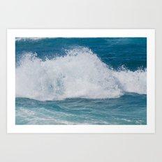 Hookipa Splash Waves Beach Break Shore Break Pacific Ocean Maui Hawaii Art Print
