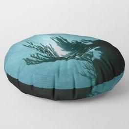 Gorgonian's Silhouette Floor Pillow