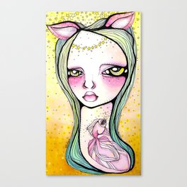 The Mischief of Olive Canvas Print