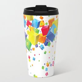 Colorful Cubes Travel Mug