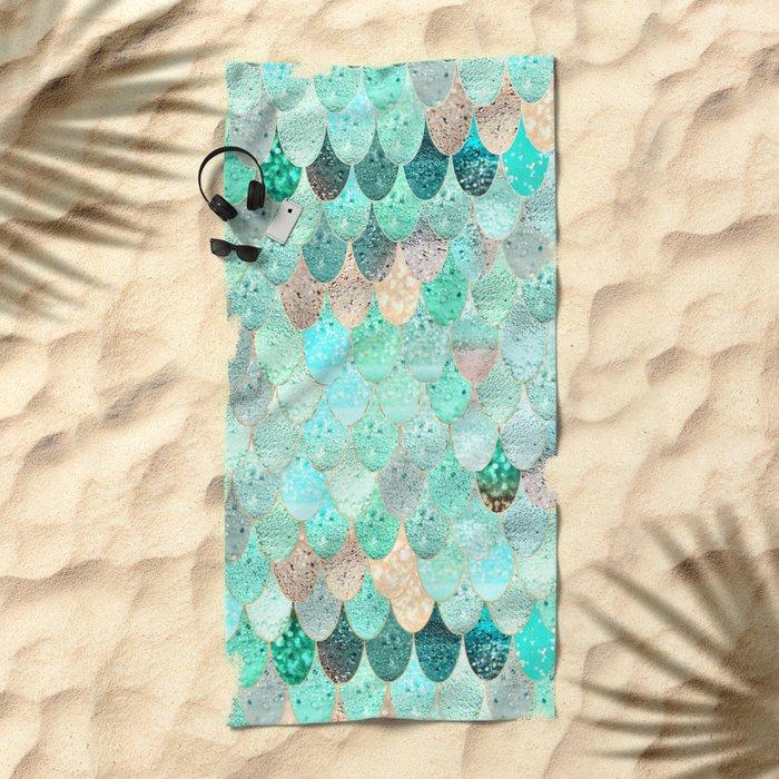 SUMMER MERMAID Beach Towel