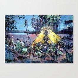Buddha Gone Camping Canvas Print