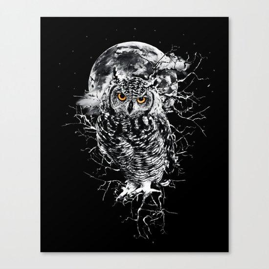 OWL BW II Canvas Print