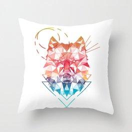 Spirit of the Wolf Throw Pillow