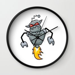 Massive Robot Cyborg Wall Clock