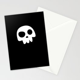 Skull Head logo with Three Teeth | Bones, white, pirates, symbolism, mortality, death, Halloween Stationery Cards