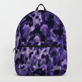 purple leopard in layers Backpack